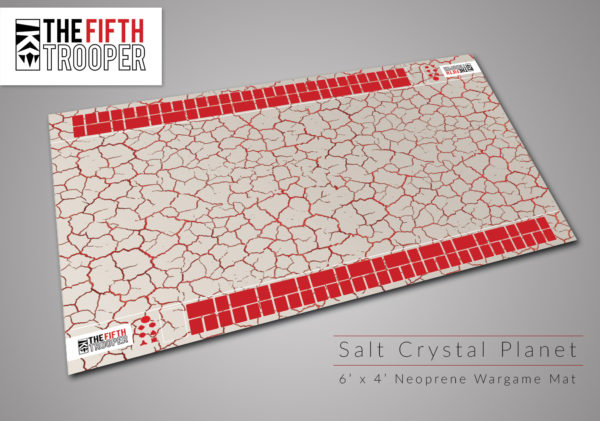 Salt Crystal Planet - 6'x4' Gaming Mat with Carrying Bag 1