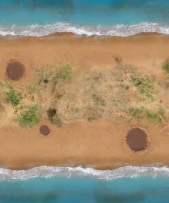 Beach Front - 6'x4' Gaming Mat with Carrying Bag 5