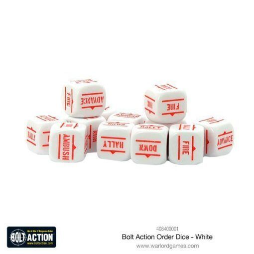 Order Dice pack - White 3