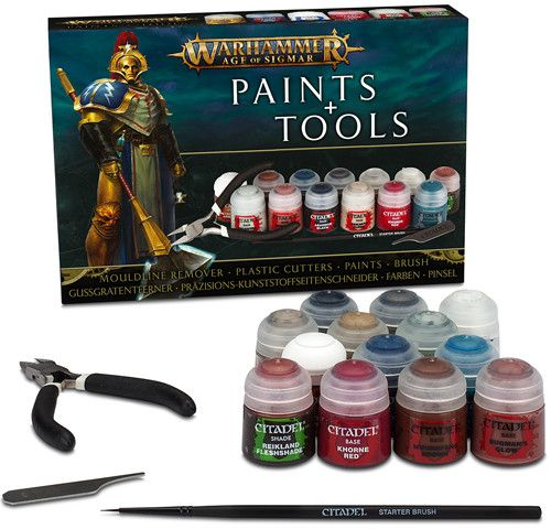 Warhammer Age of Sigmar Paint and Tools Set 3